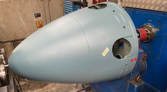 Dynamic Balancing of New Nose Cone for Spitfire Restoration